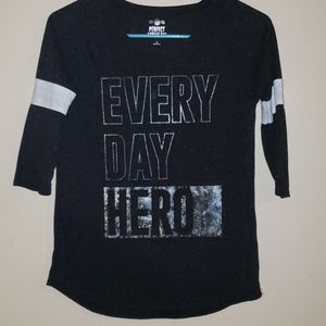 Every Day Hero Black SO Girls Shirt 16